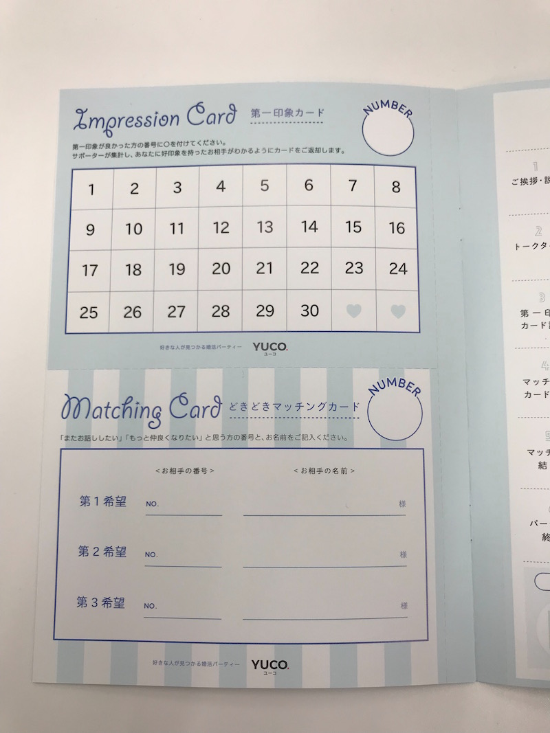 YUCO 第一印象カード