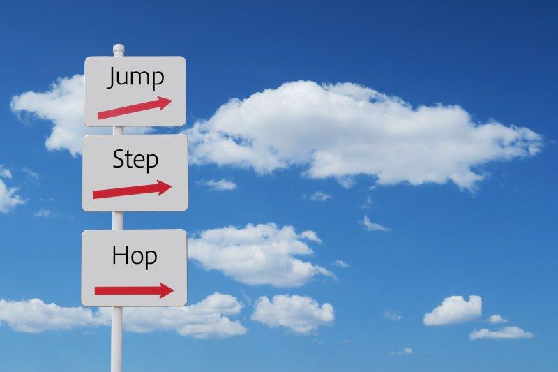 ホップステップジャンプの看板