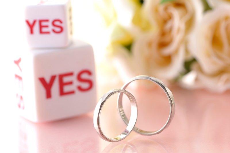 結婚指輪とYESのサイコロ