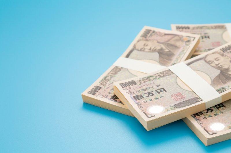 一万円札の柵が4つ